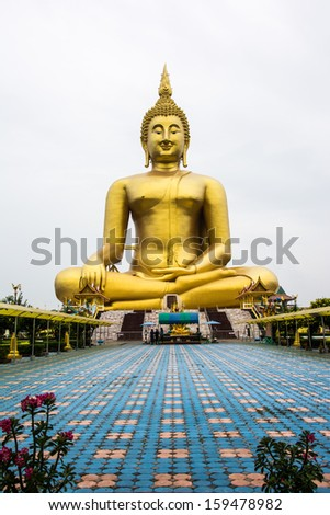 big image of buddha in thailand travel