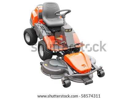 big lawn mower isolated - stock photo