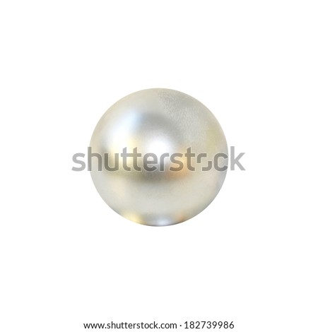 Big luxury pearl isolated at white - stock photo