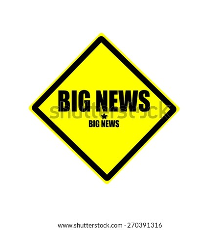 Big news black stamp text on yellow background