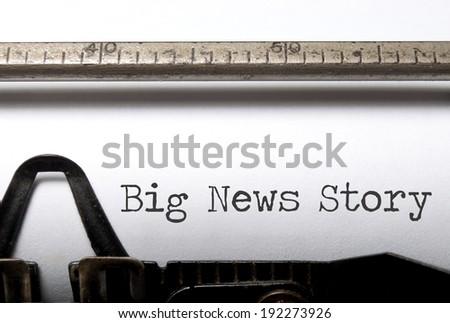 Big news story - stock photo