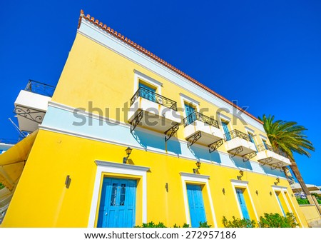 big old building in Spetses island in Greece - stock photo