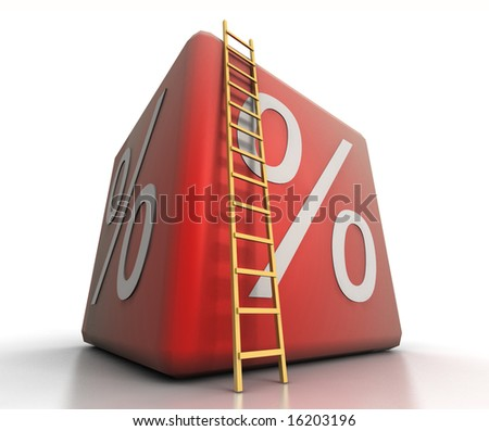 Big percent - stock photo