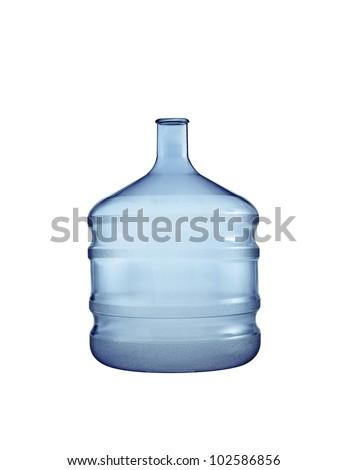 Big plastic bottle. On a white background. - stock photo