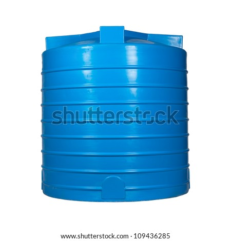 Big Polyethylene Container 2000 L Accumulationstorage Stock Photo