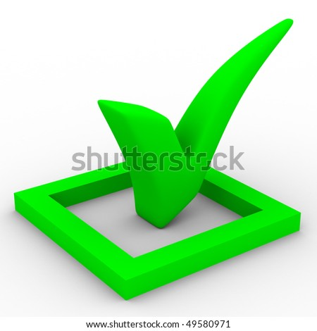 big positive symbol on white background. Isolated 3D image - stock photo