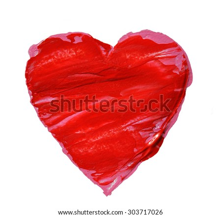 Big red heart - stock photo