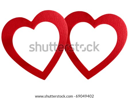 Big Red Heart Frame Isolated On Stock Photo (Edit Now)- Shutterstock