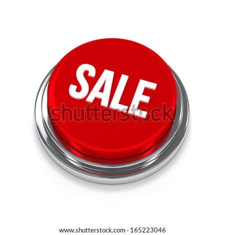 Big red sale button - stock photo