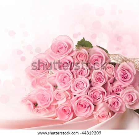Big Roses Bouquet - stock photo