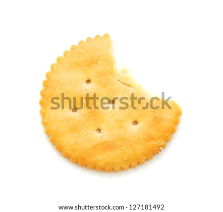 Big round delicious biscuits on a white background