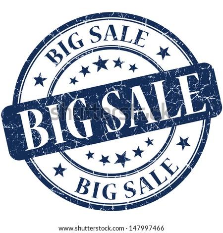 Big Sale Blue stamp - stock photo
