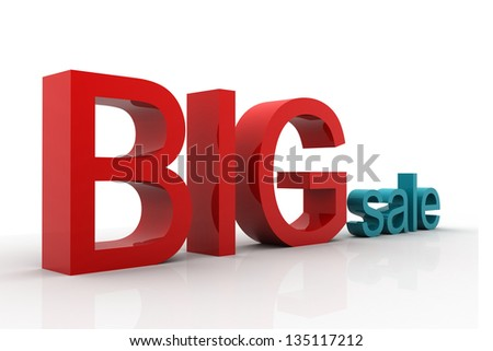 big sale 3d isolated over white background