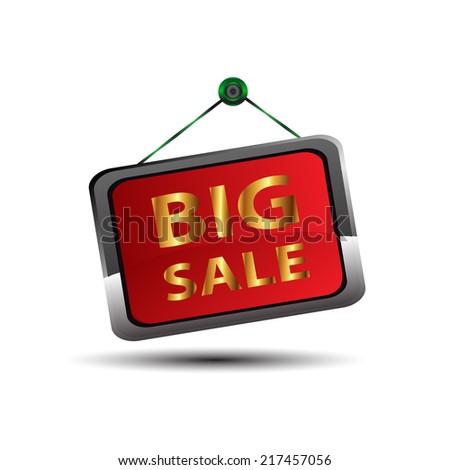 Big sale icon  - stock photo