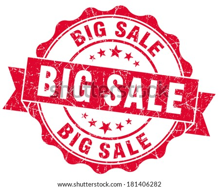 big sale red grunge stamp - stock photo