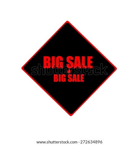 Big sale red stamp text on black background - stock photo