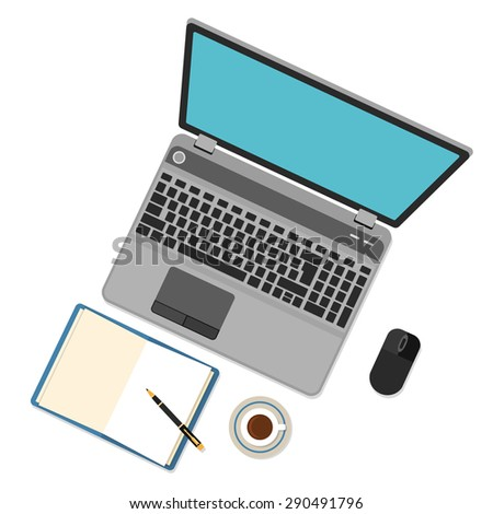 Big set of flat design items for business and graphic. Bitmap copy - stock photo
