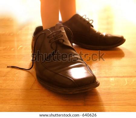 Big shoes - stock photo