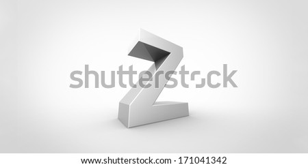 Big silver letter on a grey background