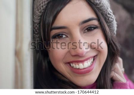 Big smile woman's portrait - stock photo