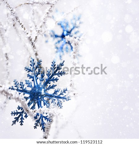 Big snowflake. - stock photo