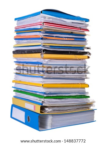 Big stack of paper - stock photo