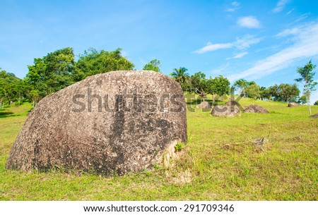 Big stone garden  - stock photo