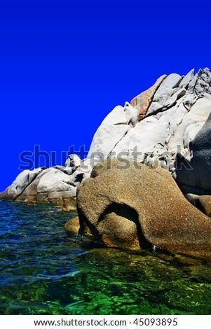 big stones, Capo Testa, Sardinia - stock photo