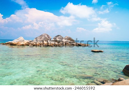 Big Stones Idyllic Island  - stock photo