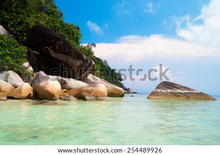 Big Stones Lagoon Boulders  - stock photo