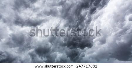Big storm cloud - stock photo