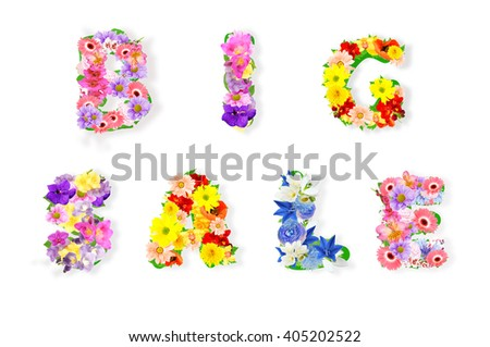 Big summer or spring sale background - stock photo