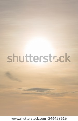 Big sun in the  morning  - stock photo