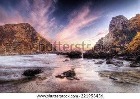 Big Sur Beach California, USA  - stock photo