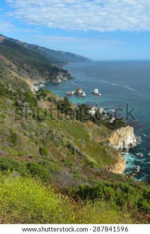 Big Sur coast, California, USA (vertical) - stock photo