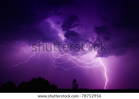 Big thunderbolt - stock photo