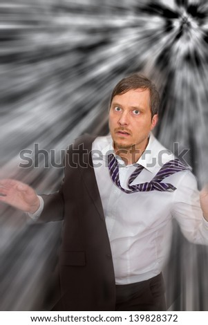Big trouble - stock photo