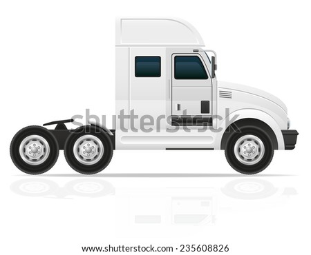 big truck tractor for transportation cargo illustration isolated on white background