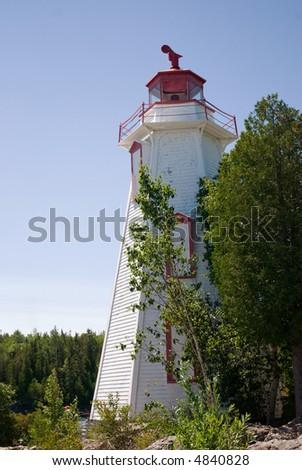 Big tub lighthouse, Ontario - stock photo