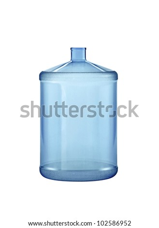 Big water bottle. On a white background. - stock photo