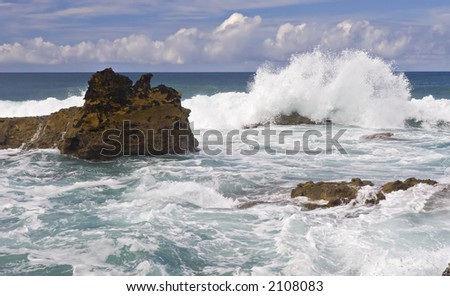 big wave of the ocean - stock photo