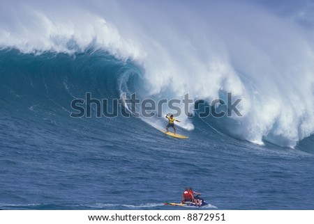 Big wave surfer Clyde Aikau - stock photo