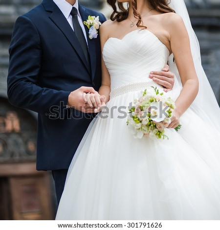 Big wedding bouquet - stock photo