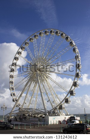 Big wheel on Brighton seafront - stock photo