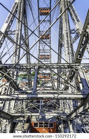 Big wheel on Prater in Vienna, Austria - stock photo