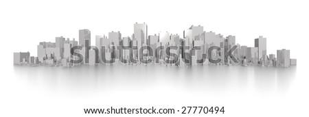 big wide skyline - stock photo