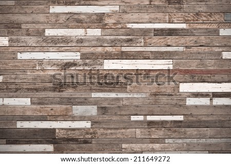 big wood plank wall / wood wall background - stock photo