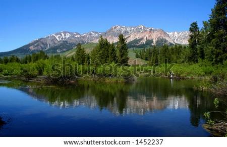 Big Wood River, Idaho - stock photo