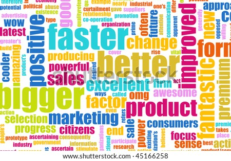 Bigger Better and Faster Product as a Concept - stock photo
