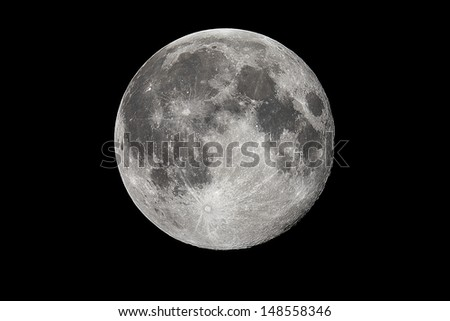 Biggest Full Moon in year 2013 - stock photo